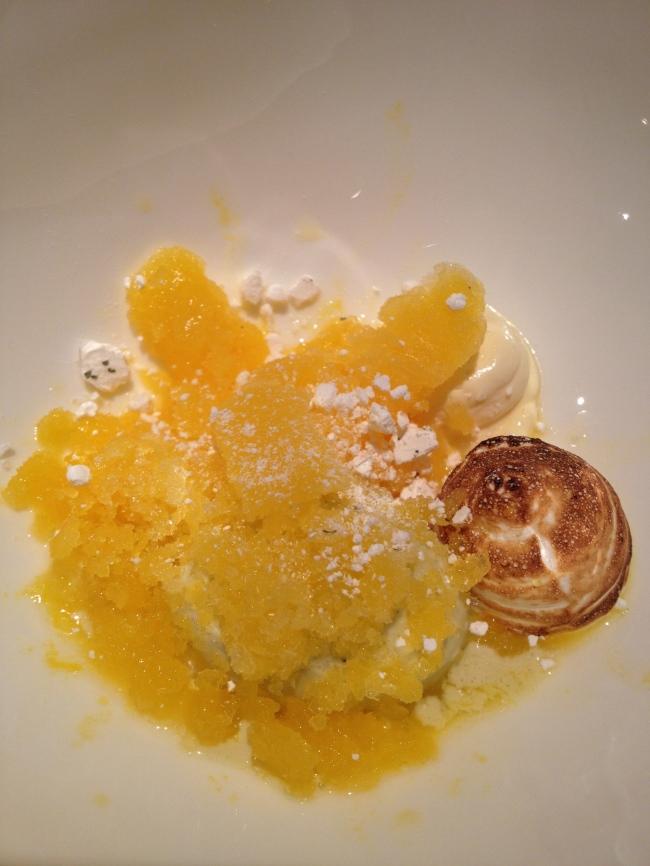 Pre-dessert. Citrus, meringue