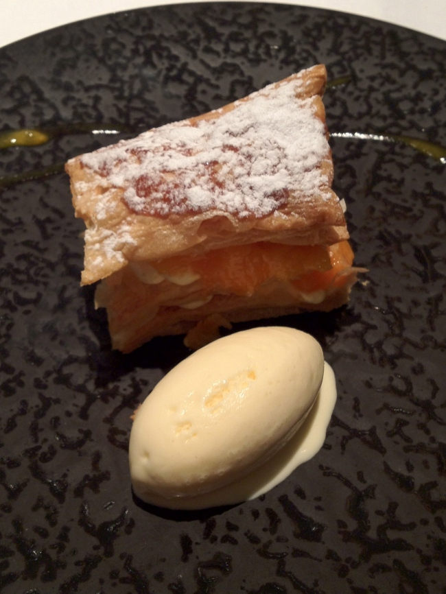Apricot mille feuille.
