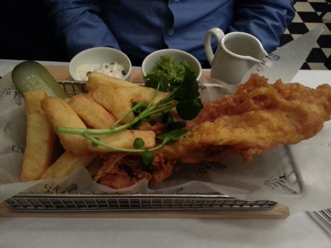 Fish and chips. In case that wasn't clear.