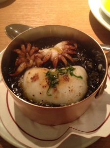Balck rice with squid. Yes, it was that big bit I flipped on to the table