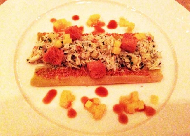 Crab and leeks : Berners