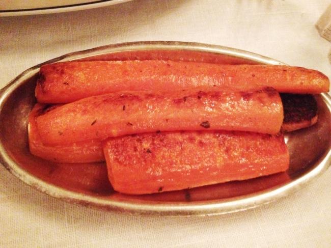 Carrots. Big ones.