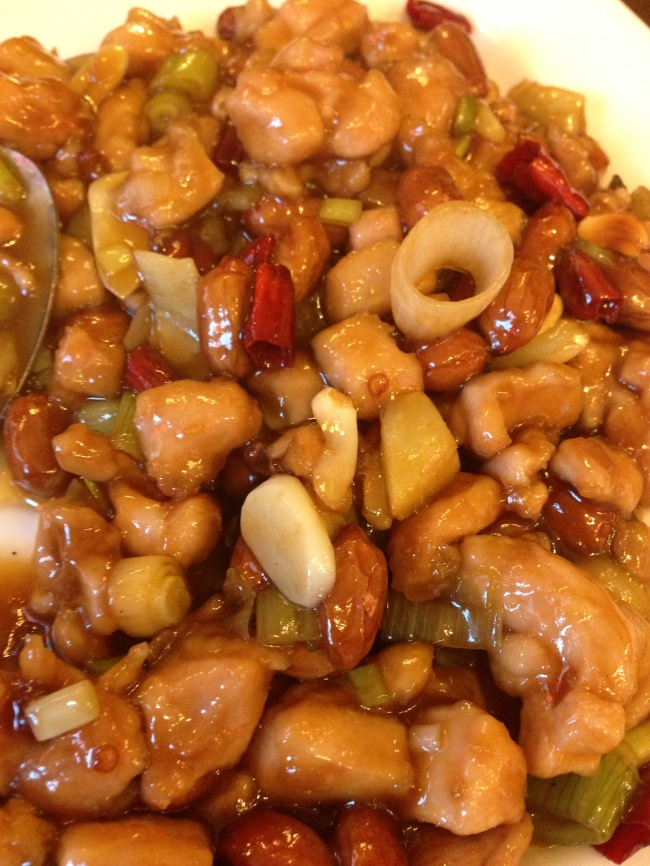 chicken cashew nut at Bar Shu