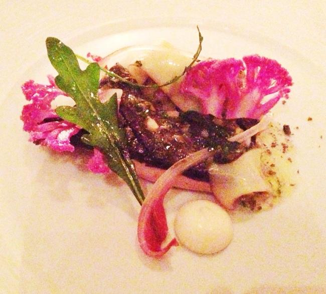 Mushroom with psychedelic cauliflower