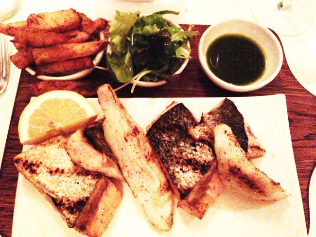 Fish. Grilled. Chips.