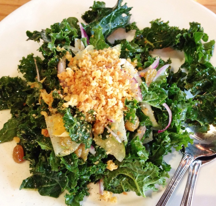 Kale Salad. Not as healthy as it looks