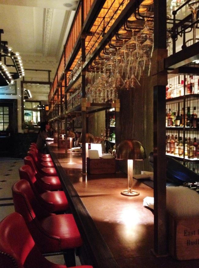 The Long Bar. Empty.