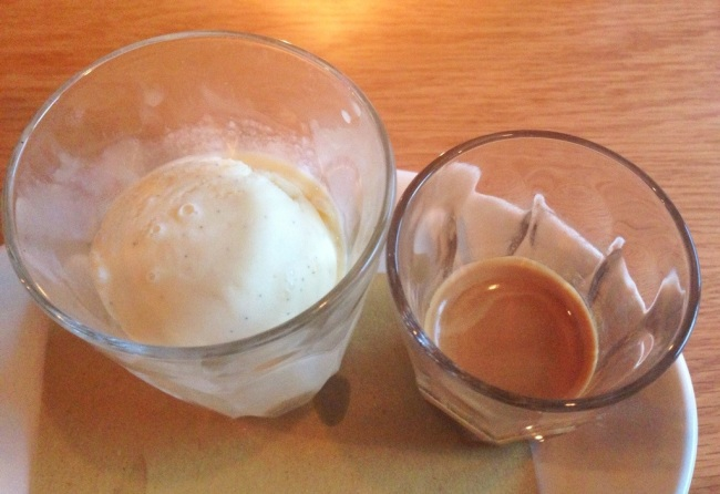 Decaff Coffee and ice-cream. The World Service will have to wait.