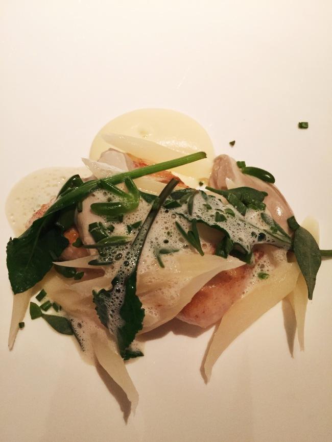 Sea bass. And oysterslugs