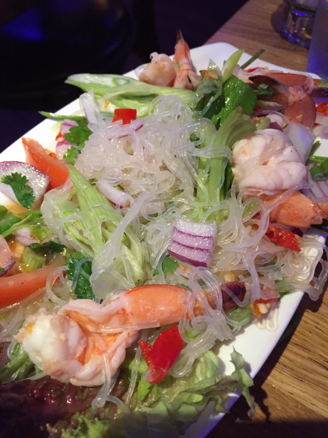 Glass vermicelli and prawn. Fire in your mouth.