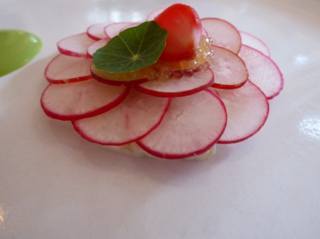 some radishes.