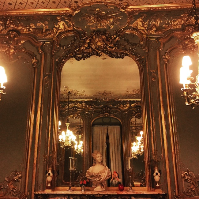The French dining room - from the chateau of Mme De Pompadour.