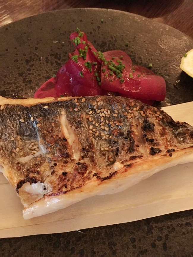 Sea bream, robata grilled