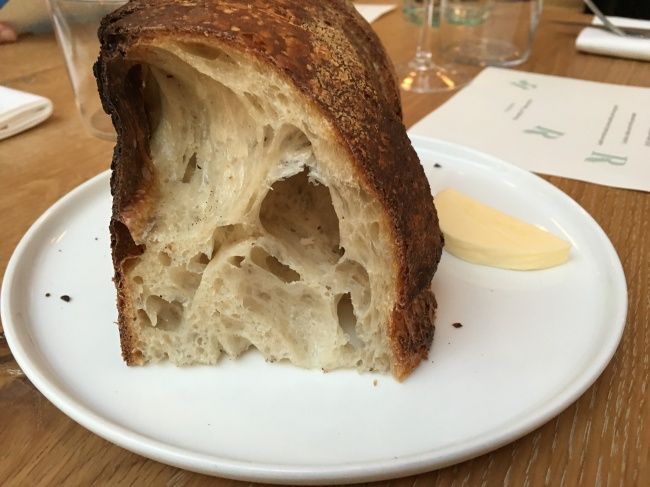 Bread to die for. butter enough for one slice. Maybe,