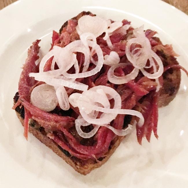 Salt beef. It's not like this in Prestwich.