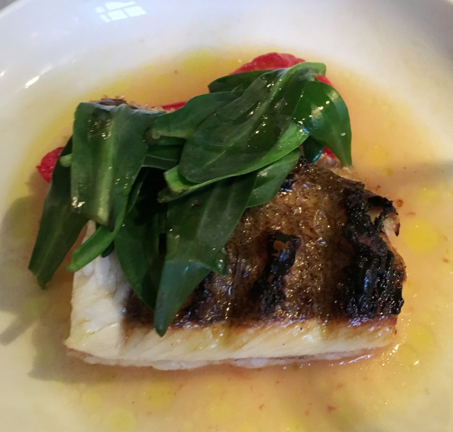 Brill and sea aster. I did't mention this but C liked it